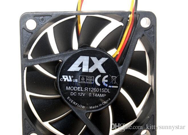 EVERFLOW 6015 6CM 12V 0.14A R126015DL Ventilateur de refroidissement à 3 fils