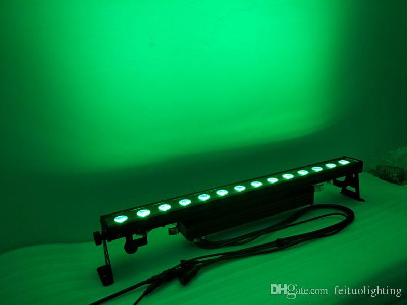 2 개 / 많이 무료 배송 LED 벽 세탁기 최신 제품 14x30w rgb 3in1 높은 전력 슈퍼 밝기 IP65 매트릭스 주도 벽 세탁기