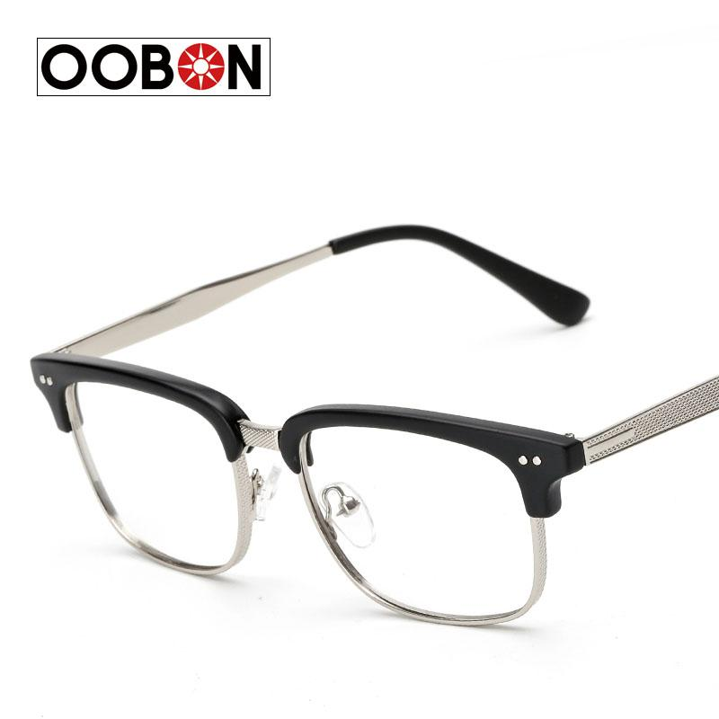 2018 Wholesale OOBON 2017 Half Frame Eyewear Vintage Eyeglasses ...