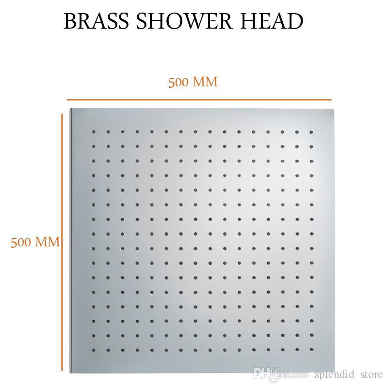 Top Square Duschen 20 Zoll große Regen Duschkopf Messing Chrom Badezimmer Decke Dusche Zubehör hohe Qualität
