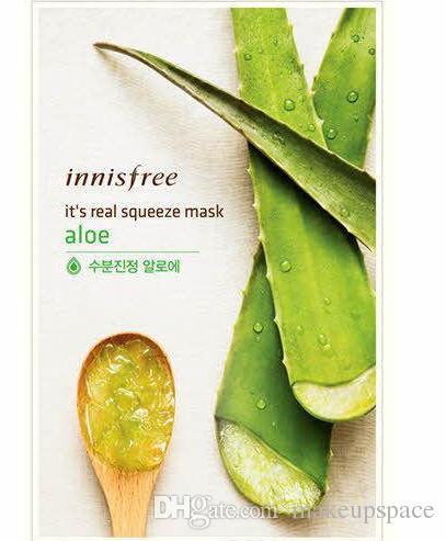 Innisfree Squeeze 마스크 시트 보습 얼굴 스킨 트리트먼트 오일 컨트롤 페이셜 마스크 껍질 피부 관리 Pilate A001