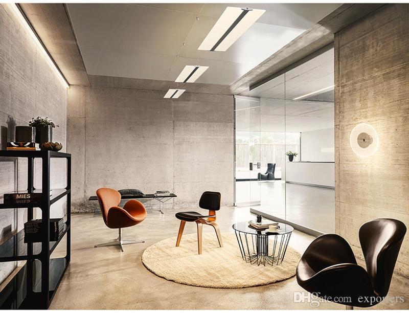 LED 벽 램프 아크릴 Frameless 조명 Nanometer 가이드 천장 조명 침실 오피스 거실 조명 피팅 투명