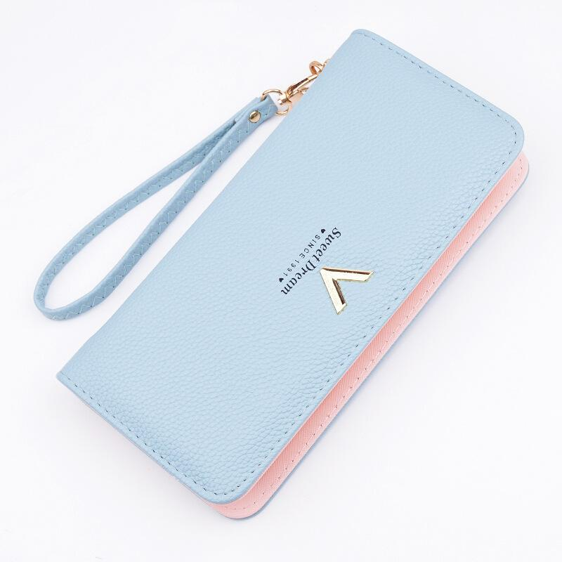 dc265a97fb66a1 New Luxury Ladies Purses Female Brand Wallets Women Long Zipper Purse Woman  Wallet Leather Card Holder Clutch Portefeuille Femme Italian Leather Wallets  ...