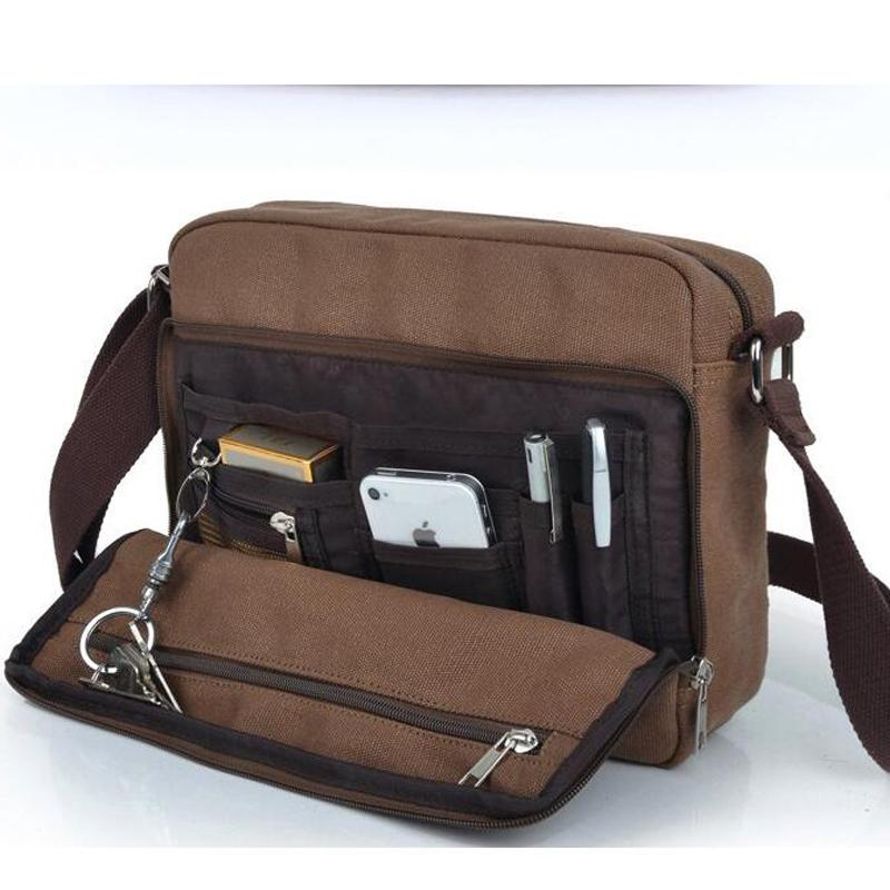 d347c684701 Wholesale- Hot Quality Multifunction Men Canvas Bag Casual Travel ...