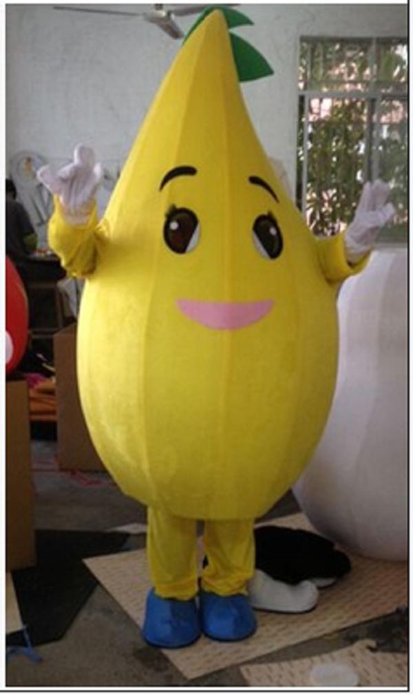 Lemon mango melon dragon fruit kiwi fruit watermelon cartoon dolls mascot costumes props costumes Halloween