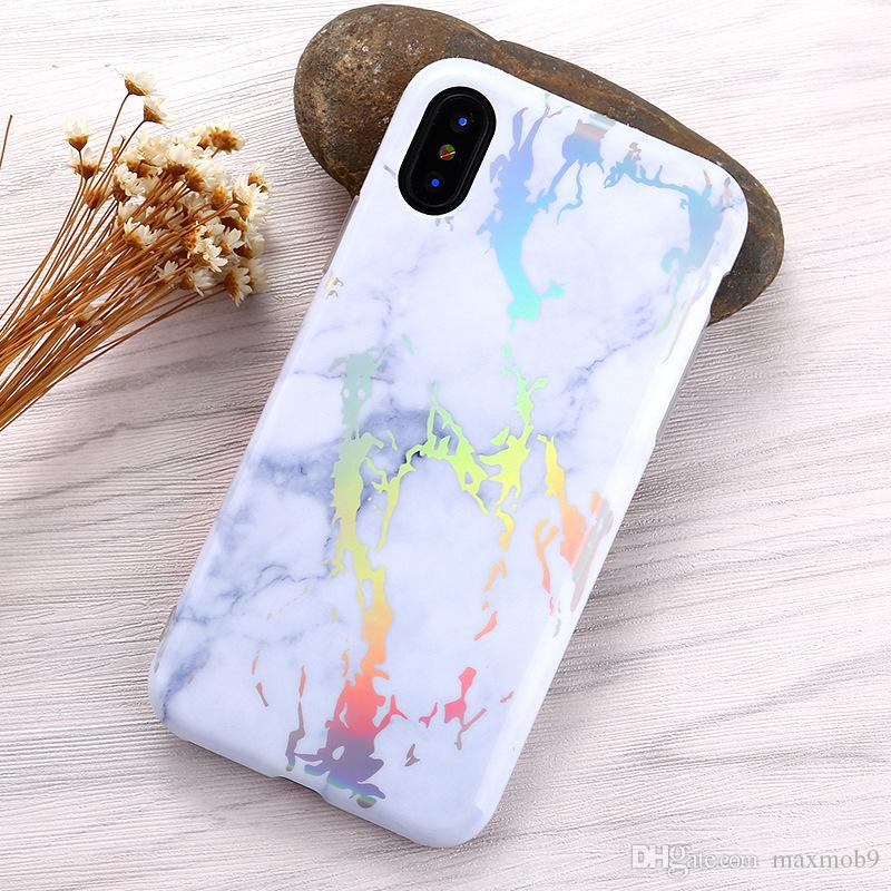 Hot selling Laser TPU Stone marble cell mobile phone case for iphone 11 PRO Xs MAX XR X 8 7 6S plus Bling plated cover for Samsung S10 PLUS