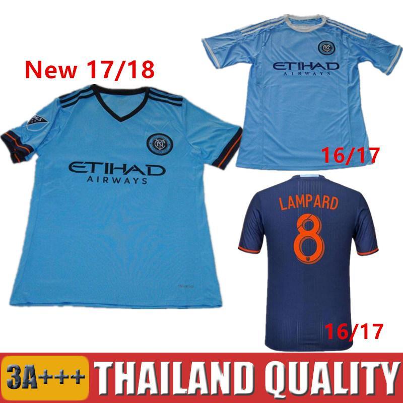 2019 2016 Soccer Jersey New York City FC Camisetas De Futbol 2017 David  Villa Andrea Pirlo cb8245259231f
