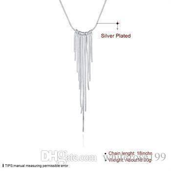 Оптовая торговля-розничная низкая цена рождественский подарок 925 серебряные ювелирные изделия бесплатная доставка ожерелье yN026