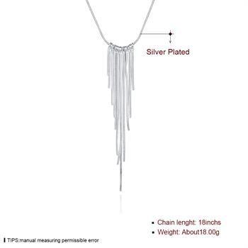 Commercio all'ingrosso - Collana di trasporto libero yN026 dei monili d'argento di modo del regalo di Natale di prezzi più bassi al minuto 925