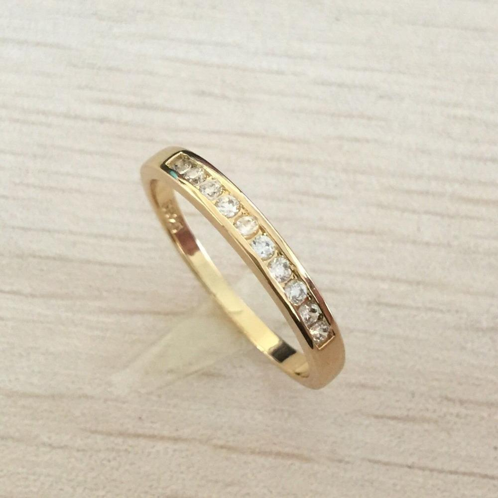 wedding imitation normal heart tail earrings woman bands product ring plated middle gold female rings lady shaped peach aged high diamond from