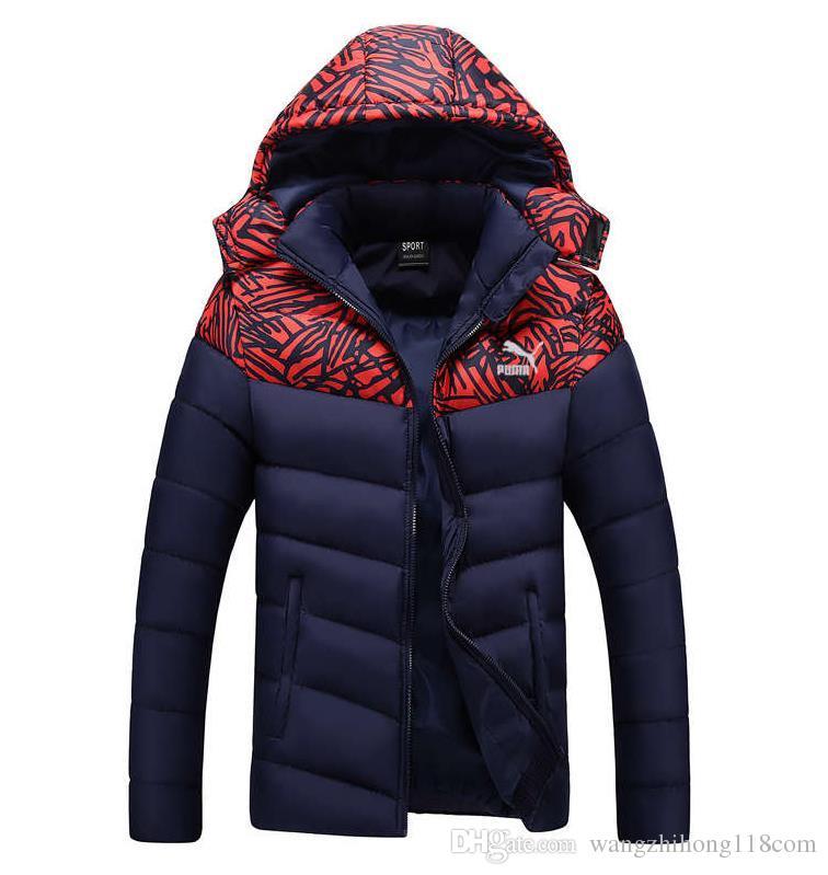 2017 Hombres de la Juventud de Invierno de Corea del párrafo corto cuello de piel manga manguitos de la marea acolchada estudiantes delgado grueso abrigo es 5 tamaños