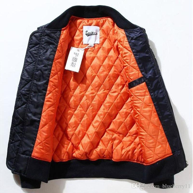 가을 - 비행 파일럿 재킷 코트 폭격기 MA1 남성 폭격기 재킷 자수 야구 코트 M-XXL 무료 배송