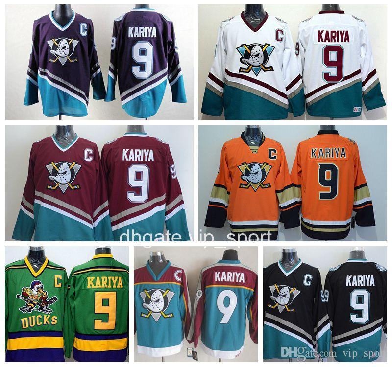 45f107115 Anaheim Ducks Men 9 Paul Kariya Jersey Ice Hockey Paul Kariya Vinatge  Jerseys Cheap Stitched Mighty Purple Orange White Black Paul Kariya Jersey  Paul Kariya ...