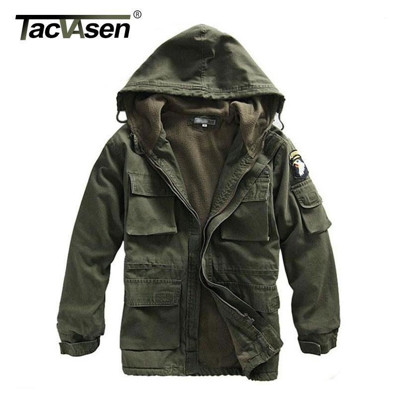 Tacvasen Men Winter Military Jacket Us Army Air Force Thermal ...