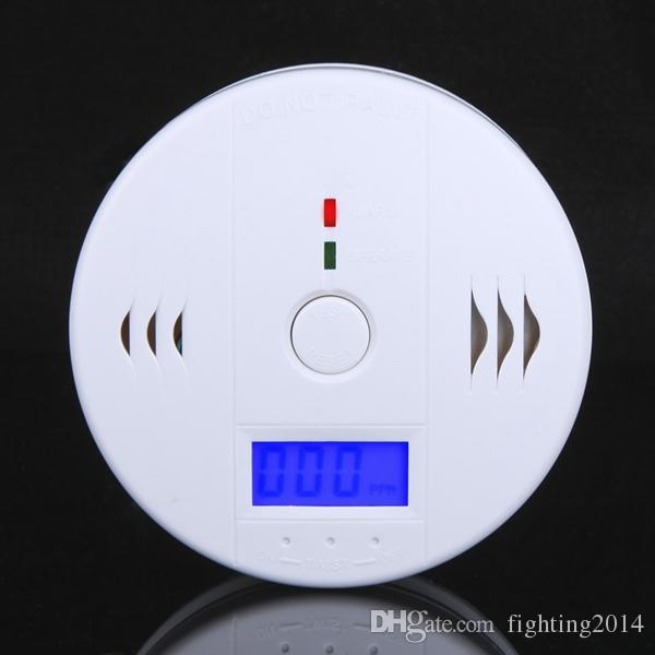 Alarme CO carbono detector de monóxido com segurança LCD casa Envenenamento Sensor de Gás aviso de incêndio Detector de fumaça Tester aviso branco