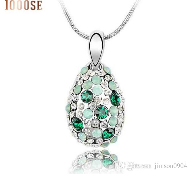 2017 new 1000SE Quality goods woman Crystal Necklace Cyclamen High-end Pendant Ornaments wholesale jewelry sale