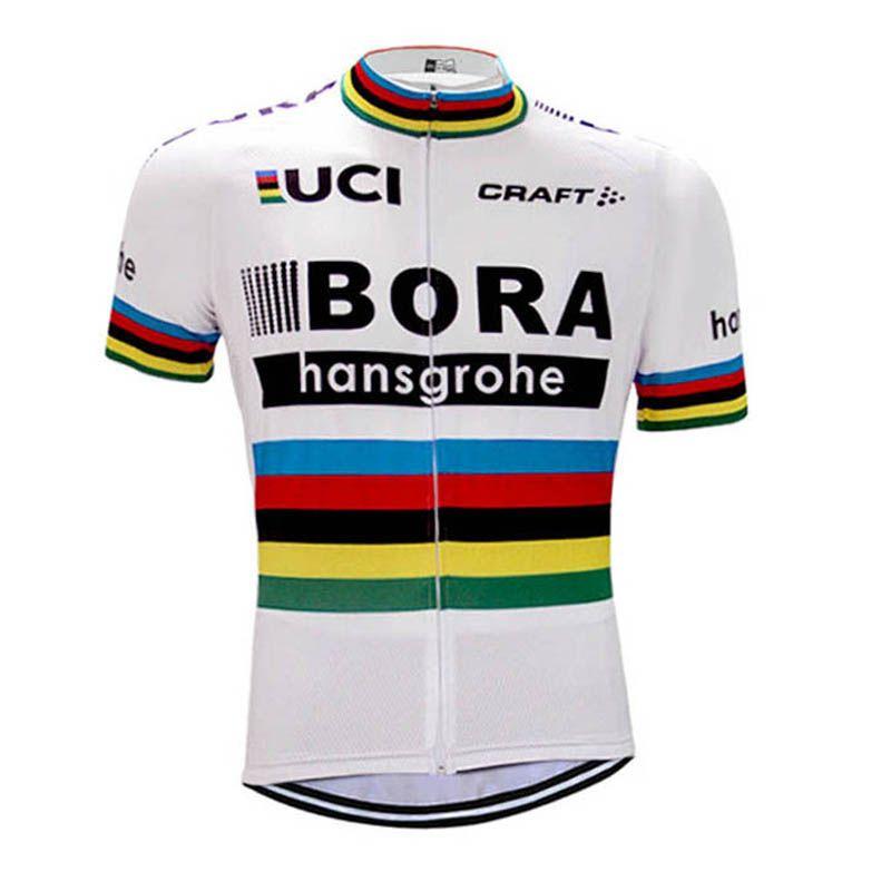 2017 BORA Jersey De Ciclismo UCI Bicicleta De Equipo De Manga Corta  Camisetas Ropa Ciclismo es Verano Hombres Ciclismo Desgaste Bicicleta  Maillot C2401 Por ... 7b1ce97183d04