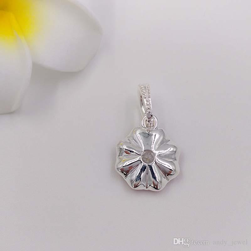 Spring Flower S925 Sterling Silver Beads Oriental Bloom Pendant Fit European Style Brand Charms Bracelet ALE Jewellery Gift 791829CZ