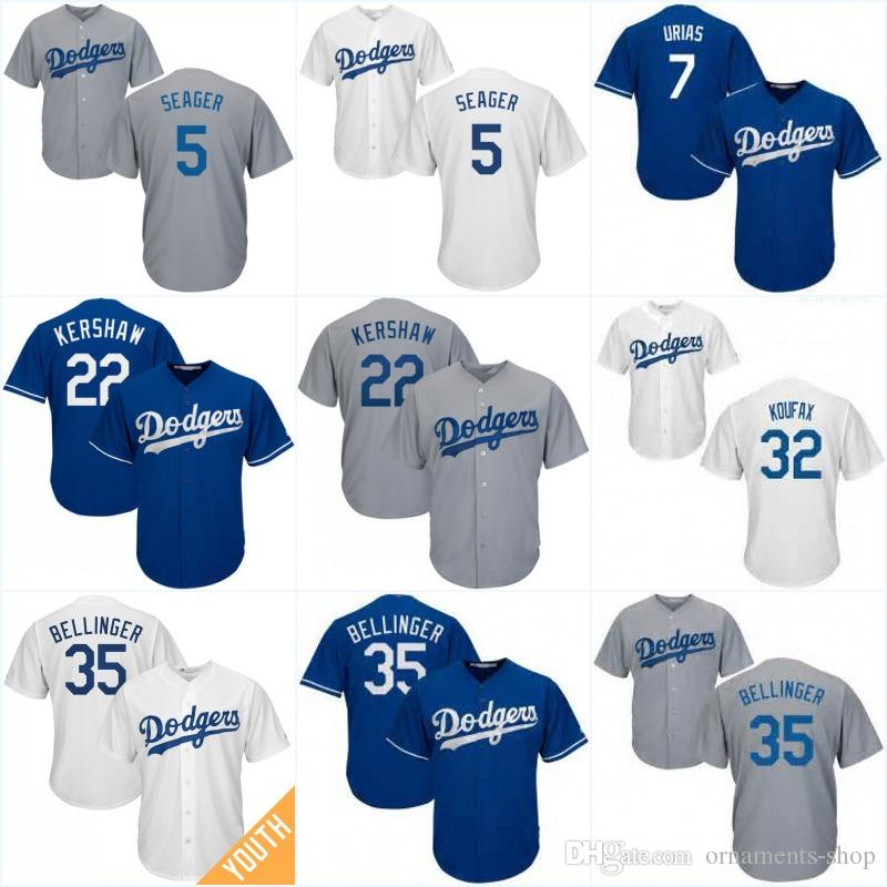 Youth  35 Cody Bellinger Jerseys Los Angeles Dodgers 32 Sandy Koufax 7  Julio Urias 5 Corey Seager 22 Clayton Kershaw Baseball Jersey UK 2019 From  Ornaments ... 98ec43c7bd3