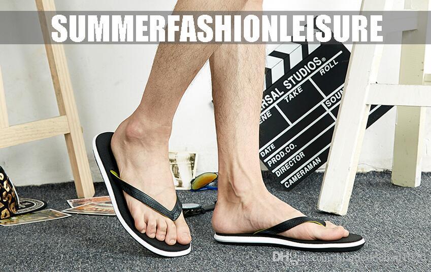 Estate nuovi personaggi flip maschio anti-skid piatto con scarpe da spiaggia casual piatto pantofole da uomo marea