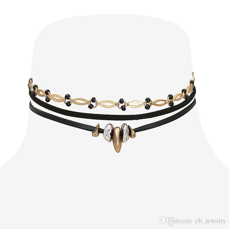 2020 Fashion Gothic Snap Street Leather Copper Alloy Multi