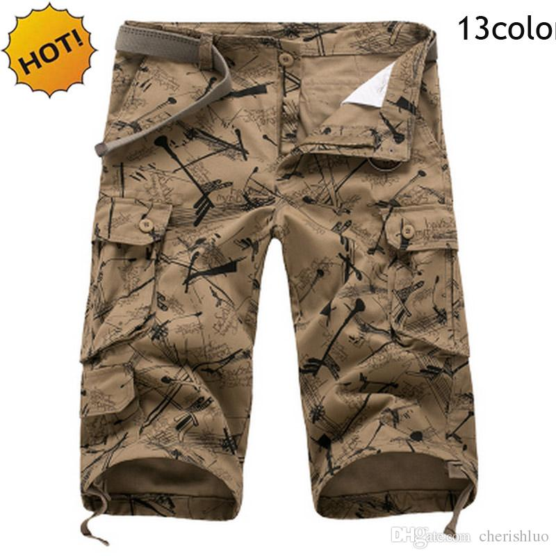 7d1733813f 2019 Top Quality 2017 Summer OutdoorS Loose Baggy Camoflage 100% Cotton  Army Multi Pocket Straight Cargo Shorts Men Plus Size 44 46 From  Cherishluo, ...
