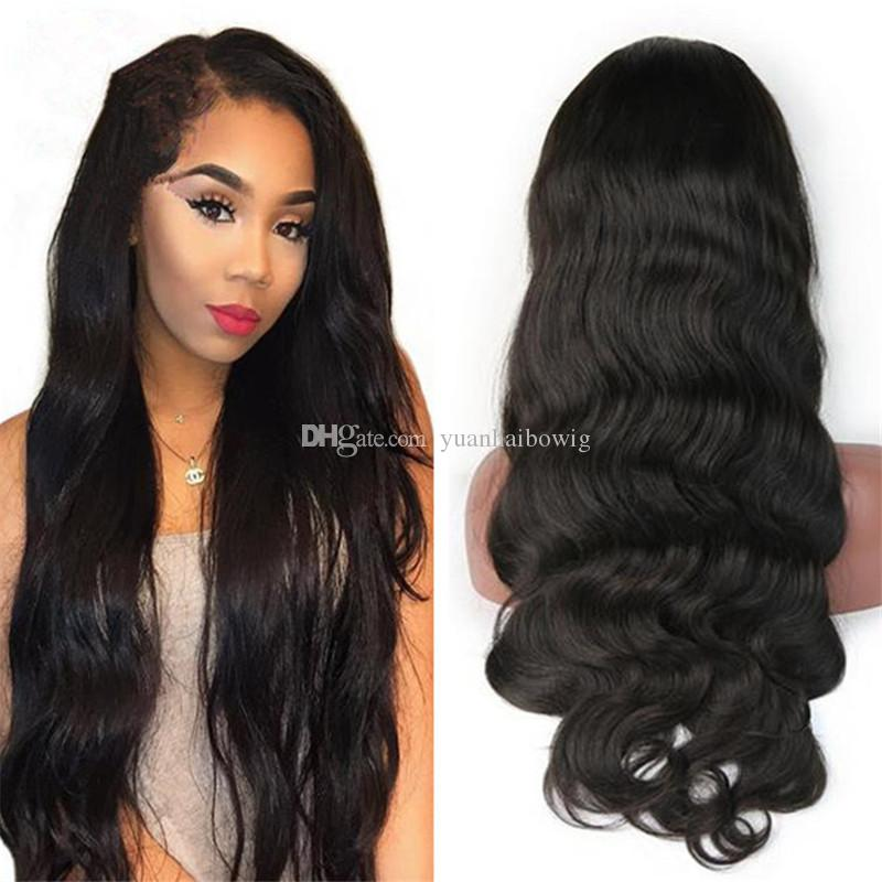 Glueless Lace Front Wig High Quality Body Wave Human Hair Virgin Brazilian Hair Full Lace Wigs Fedex Express Free Shipping