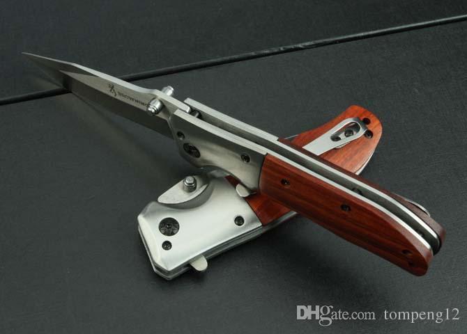 Bräunung. DA51 klappmesser holzgriff 440C 57HRC outdoor camping jagd wildes geschenk messer kostenloser versand 1 stücke