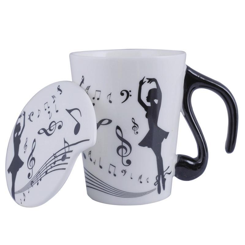 Novelty Styles Ballet Dancer Ceramic Personality Milk Juice Lemon