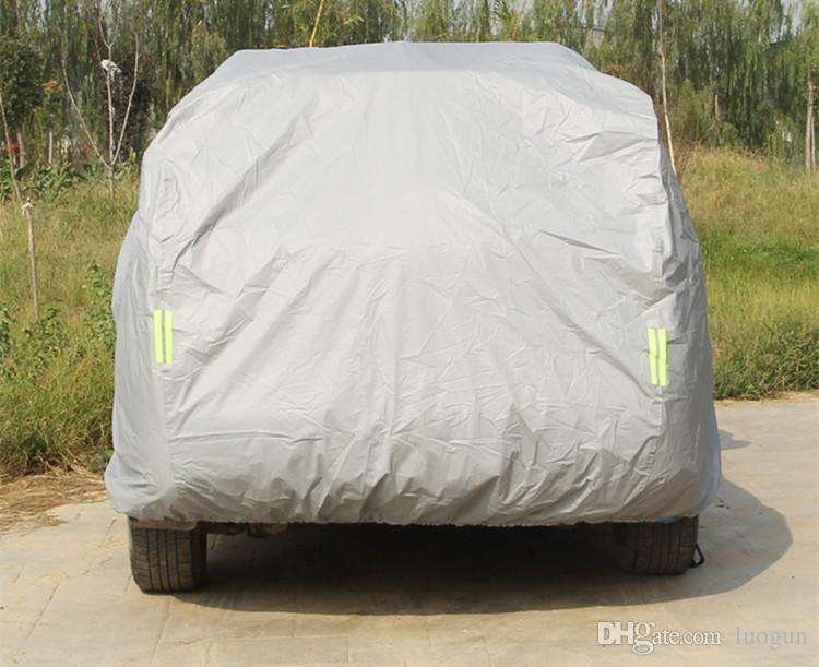Anti-theft Car Garments for Sunblocking and Snow Defence dust-proof Scratch Silver gray