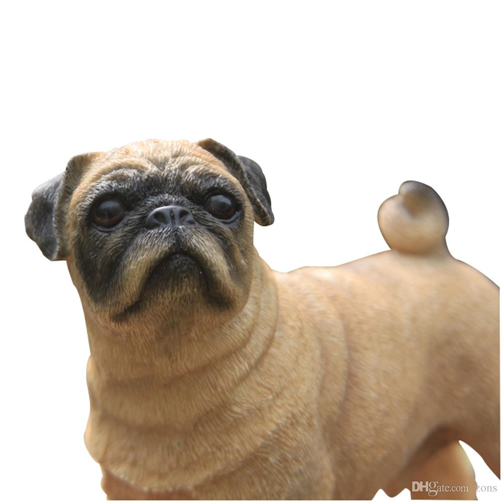 2017 pug dog figure household dog ornaments resin puppy figure