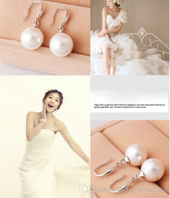 Bijoux pour femmes Boucles d'oreille en argent sterling 925 avec perle naturelle, boucles d'oreille, boucles d'oreilles