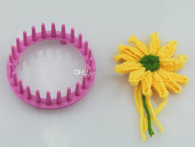 Hot Home & Garden Knitting Loom Flower Daisy Pattern Maker Wool Yarn Needle Knit Hobby Loom Knitting Machine Sewing Tools