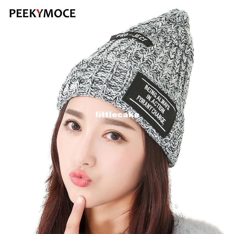 c465f4c4d9d New Hat Bonnet Gorros Caps For Women Thick Winter Beanie Knitted Hat ...