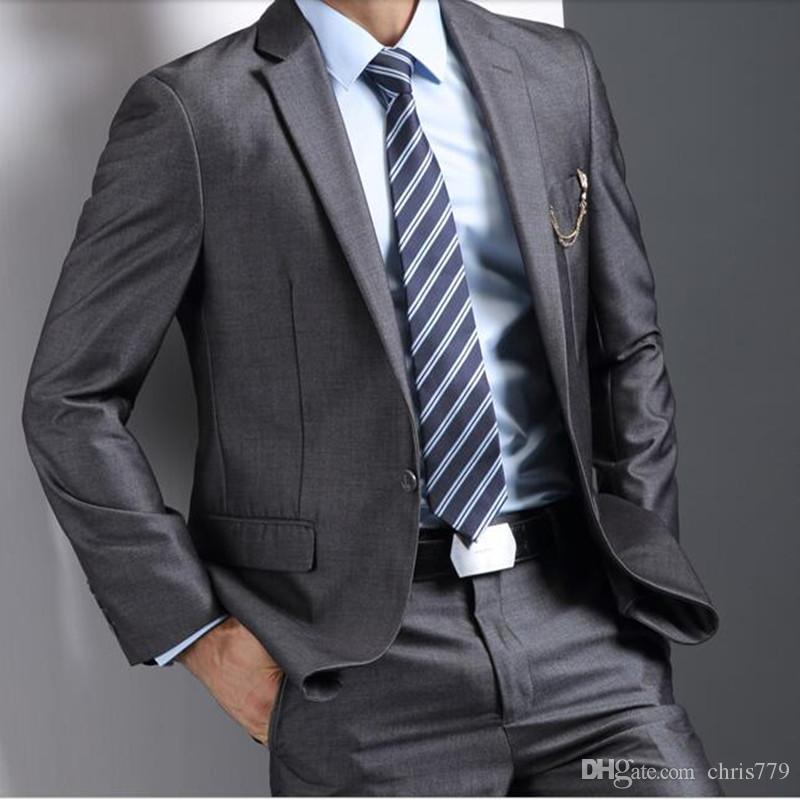 The new men's wedding suits slim fit Business casual suits fashion groomsman party feast dress suitsjacket+pants
