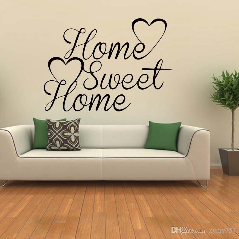 grosshandel home sweet home zitat wand lustige personlichkeit aufkleber kunst schlafzimmer wohnzimmer removable decals diy graphics von xymy757