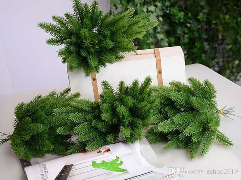 جودة عالية 20 قطعة / الوحدة أشجار عيد الميلاد الديكور محاكاة نبات زهرة ترتيب الاكسسوارات الاصطناعي زهرة شحن مجاني