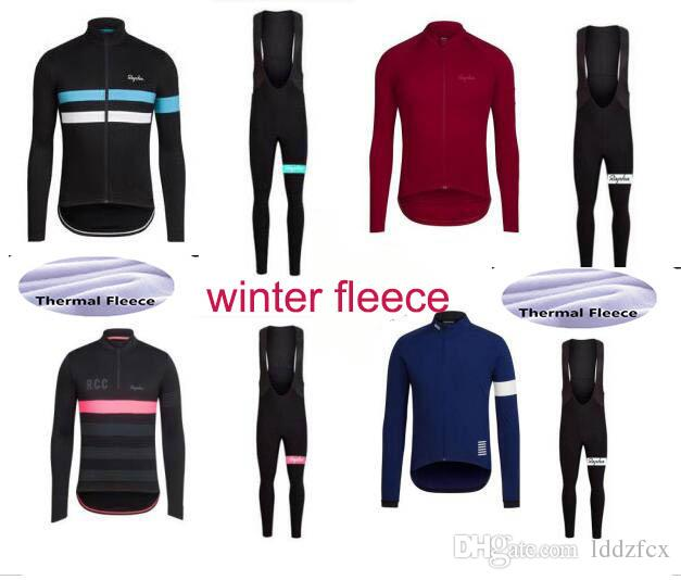 2017 Team Rapha Cycling Jersey Sets Winter Thermal Fleece Tour De France  Bisiklet Wear Bike Maillot Ropa Ciclismo Bicycle MTB Clothes Bike Wear  Cycling ... 11e61c4c8