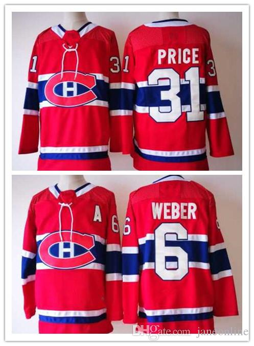 release date 2018 2017 2018 6 shea weber jerseys montreal canadiens 31  carey price stitched hockey da17a61ed