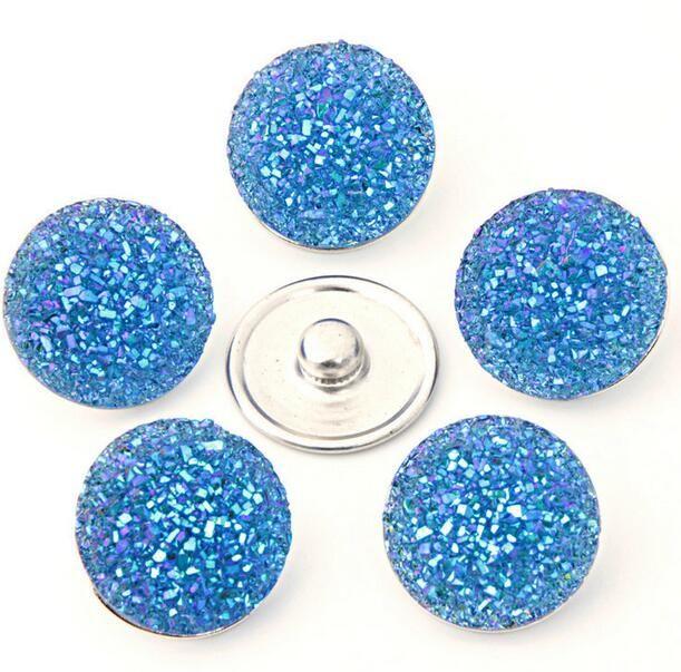 Neue Art Großhandel Billig 18mm Mini Noosa Kristall Brocken Kupfer Ingwer Druckknopf Armband DIY Nagelneuen Schmuck