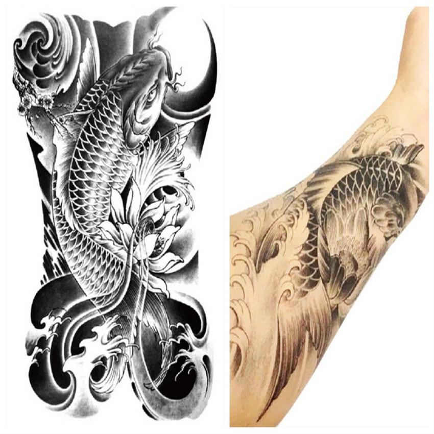 wholesale arm leg 3d carp graphic waterproof temporary tattoo body art stickers removable hot. Black Bedroom Furniture Sets. Home Design Ideas