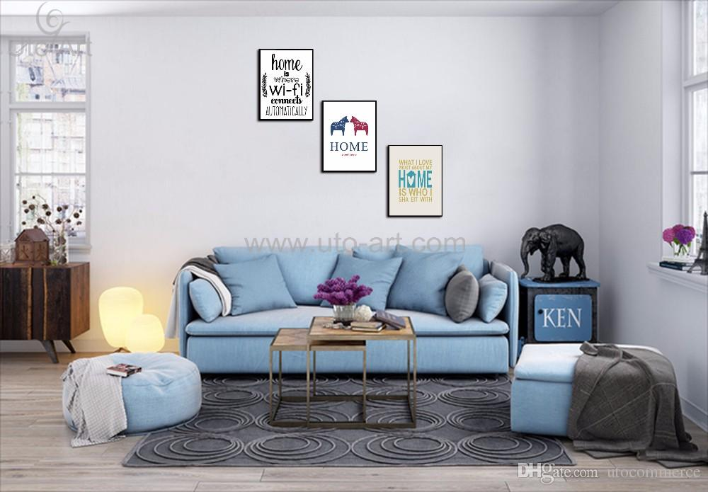 Digital Painting Modular Pictures English Characters Custom Canvas Prints Wall Art Prints for Modern Living Room Decoration