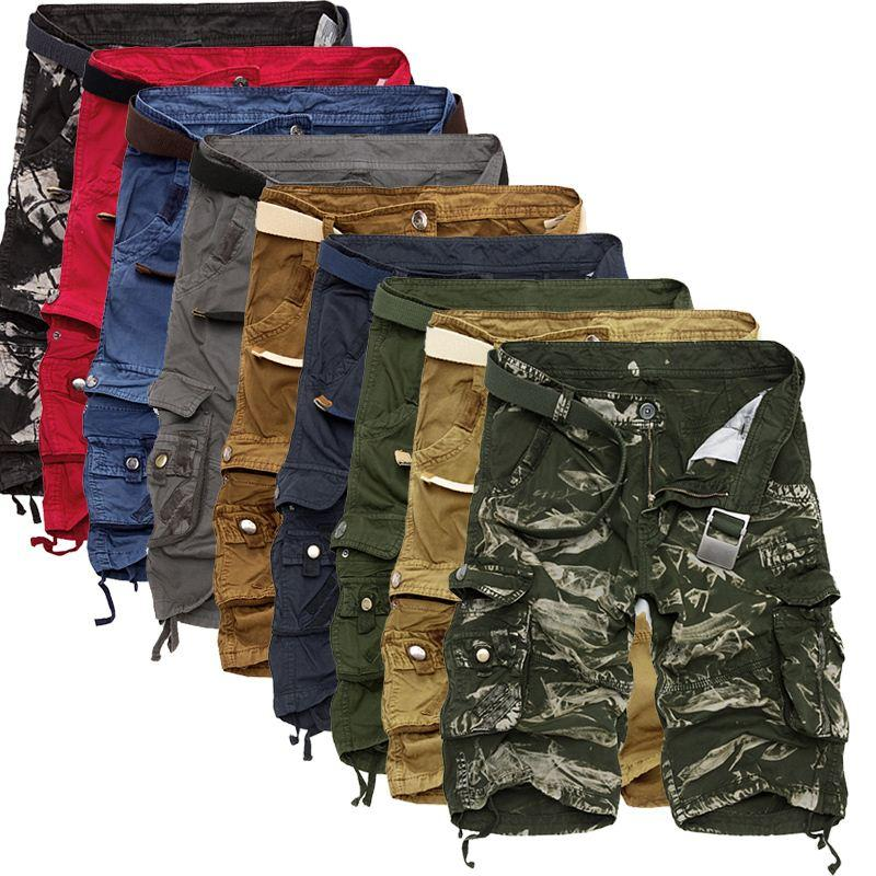 adc039d229 Cargo Shorts Men Cool Camouflage Summer Hot Sale Cotton Casual Men Short  Pants Brand Clothing Comfortable Camo Men Cargo Shorts