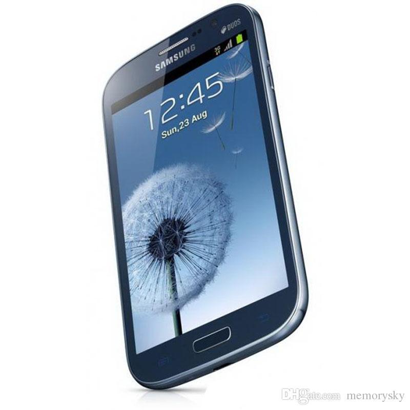 Восстановленные DUOS I9082 Оригинал Samsung GALAXY Grand WCDMA 3G разблокировать двойной микро Sim-карты 5 дюймов 1GB/8GB 8MP / 2MP камеры смартфонов