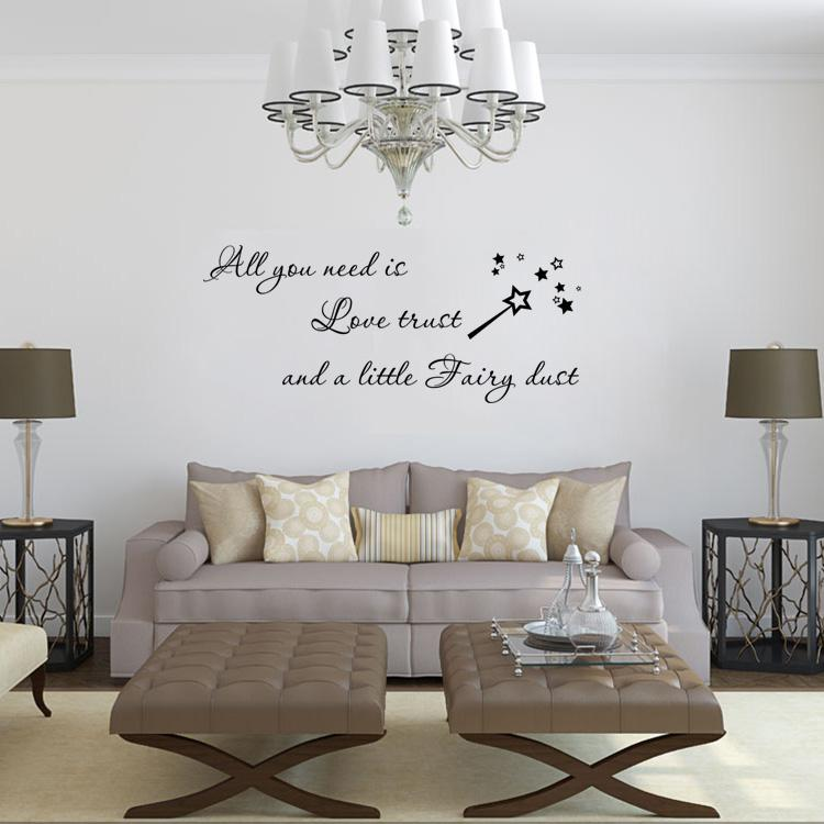 4142 All You Need Is Love Trust Quote Wall Sticker Removable Magic ...