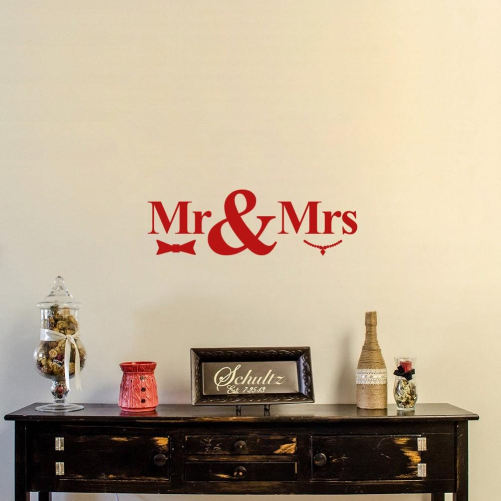 Love Quotes Wall Decals Mr And Mrs Love Quote Vinyl Wall Decal Sticker For Room Decor Or