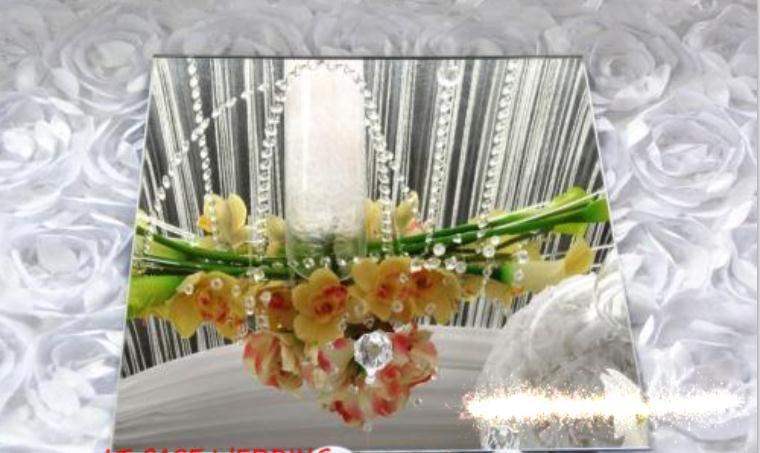 15 teile / los Luxus Hochzeit Dekoration 30 cm Durchmesser Runde Spiegelplatte Für Tischdekoration Zentrum Stück