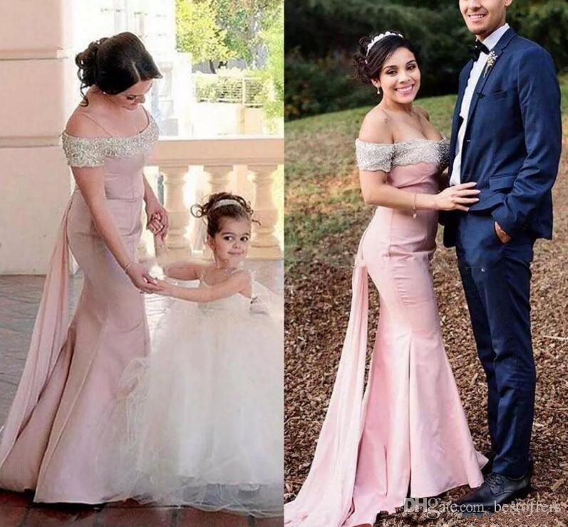 Custom made off the shoulder bridesmaid dresses 2018 cheap for Made of honor wedding dress