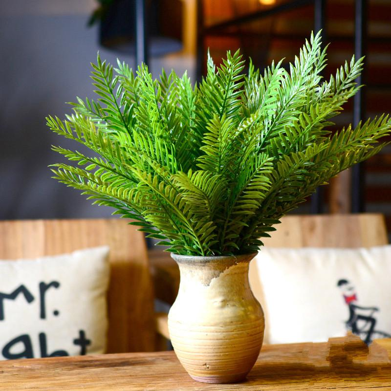 2018 artificial fern plant diy plastic grass home furnishings potted