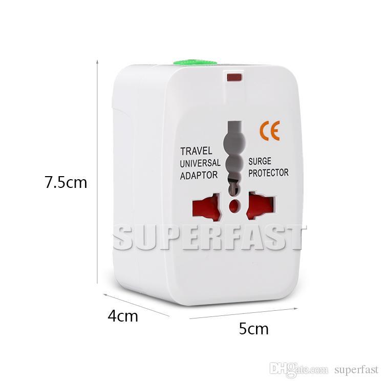 Universal Adaptador Internacional All in One Carregador de Parede de Viagem AC Power Para EUA UE REINO UNIDO AU Converter Plug com Pacote de Varejo